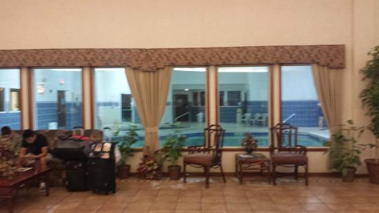 Shilo Inn Suites - Twin Falls: Lobby Foyer and 24 Hour Pool Right at the Heart