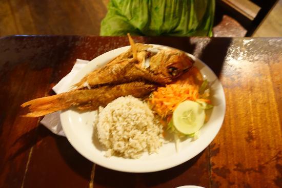 El Pirata: Whole Fish White Rice cooked in coconut milk