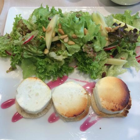 Del Rey Chocolates: goat cheese salad