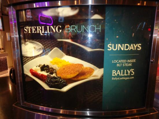 Bally's Steakhouse : Sterling Brunch inside BLT STEAK