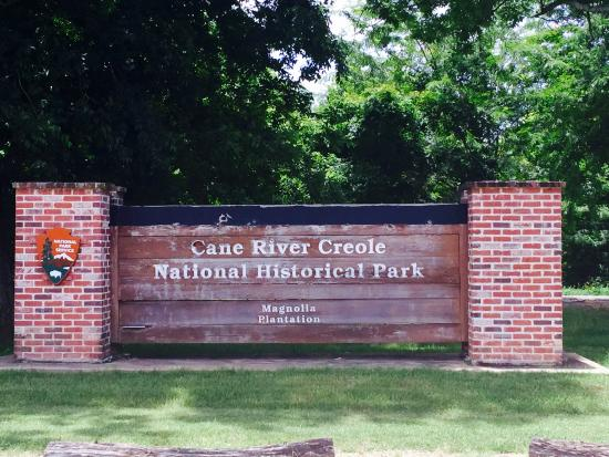 Cane River Creole National Historical Park : Entry Sign