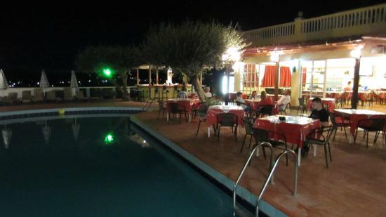 Karavos: Pool & bar area