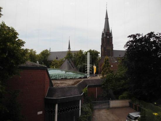 Kevelaer, Allemagne: Blick vom Museum hinüber zum Wallfahrtszentrum
