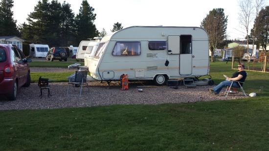 Deeside Holiday Park: A typical hard-standing pitch