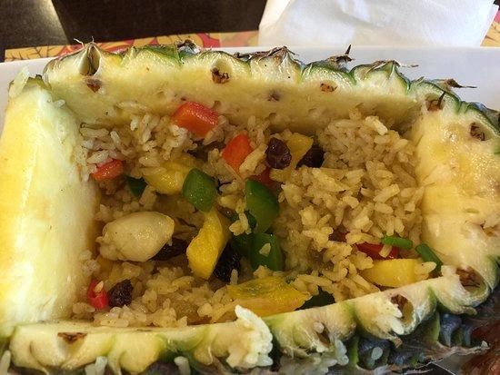 Spice House: Ananas met fried rice en zeevruchten