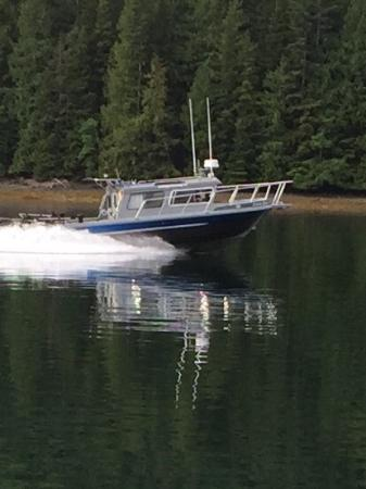 "Sandspit, Canada: Neil and Kristi aboard ""Wholly Roller"" ready to go fishing on Haida Gwaii"