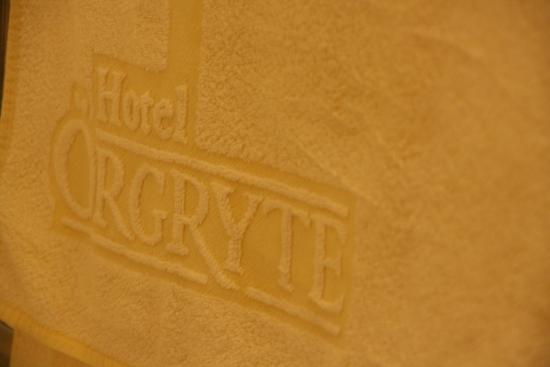 Hotel Orgryte: Hotellet har egne håndklær