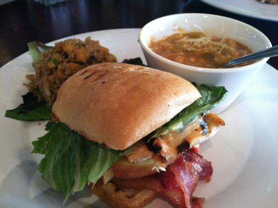 Crush : Chicken Brie Panani, bean soup, and quinoa salad...mmmmmm