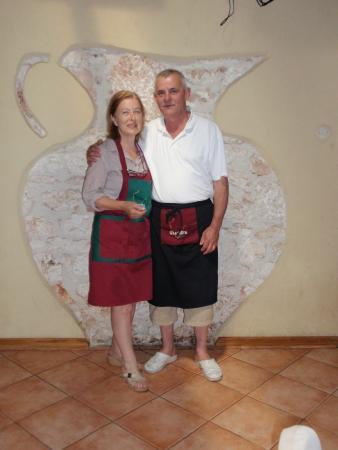 Banjole, Kroasia: I simpatici gestori Zlata e Milan