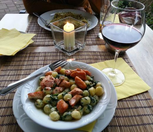 Hotel Zlata Lipa : Delicious dinner -- gnocchi with salmon & spinach
