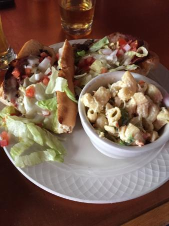 Tavern in the Forest: Italian sandwich and macaroni salad