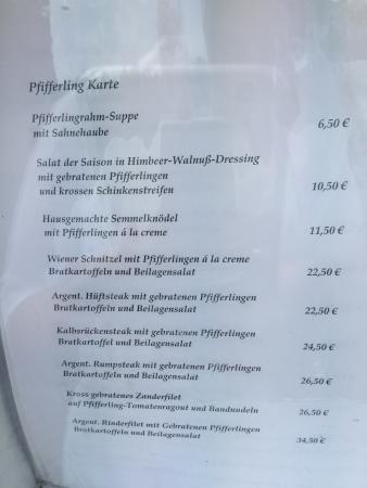 Altes Amtshaus: Pfifferling-Karte
