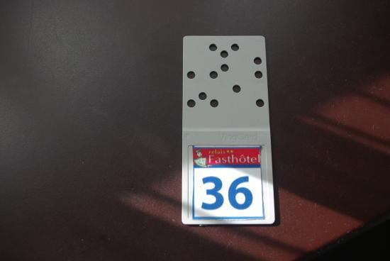 Fasthotel de Manosque: Chiave della stanza