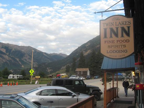 The Twin Lakes Inn: Standing on front deck, looking west...