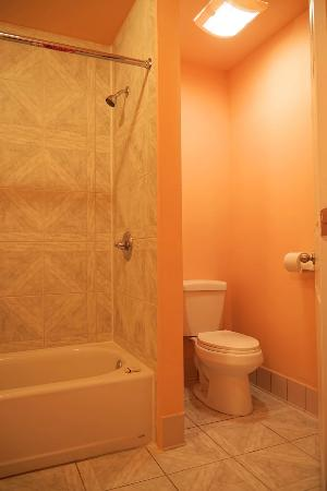 Frazier Park, Kaliforniya: The bathroom in one of our rooms