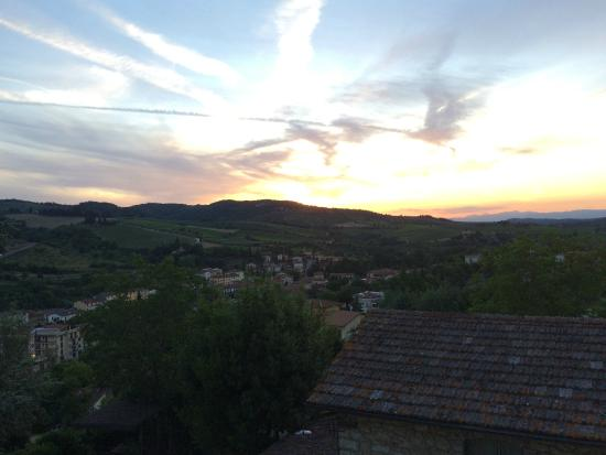 Podere Campriano: This is from the bedroom window with an iPhone.