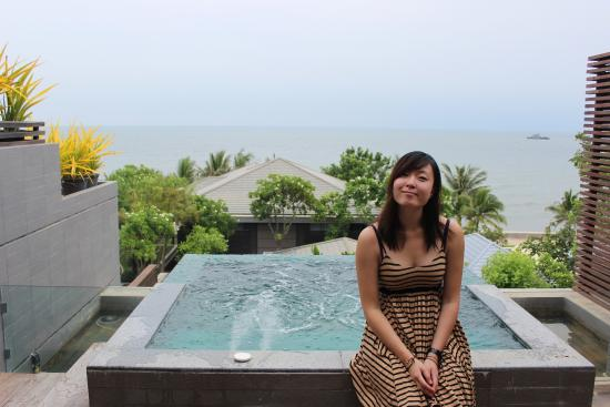 Rest Detail Hotel Hua Hin: The view outside the 2nd room - with the massage pool and my loved