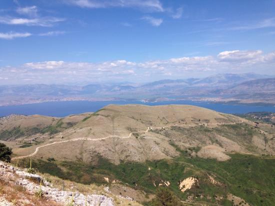View from Mt. Pantokrator - Picture of Mount Pantokrator ...