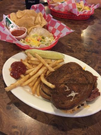 Hastings Keno Sports Bar and Grill : Tacos and Rueben on Rye