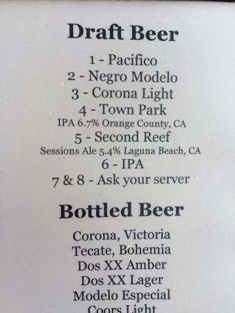 Avila's El Ranchito: Great Local Beer Selection!