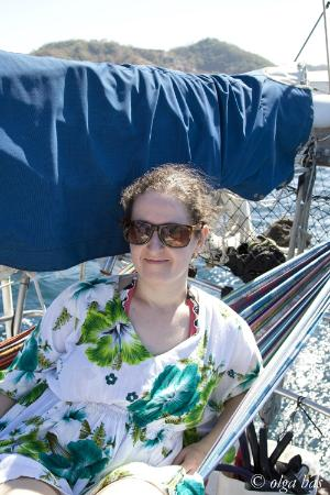The Seabird Sailing Catamaran Tours: Hanging out in the hammock