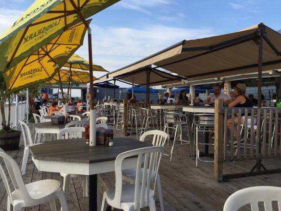 Marina Deck Restaurant: On Deck and View of Drawbridge