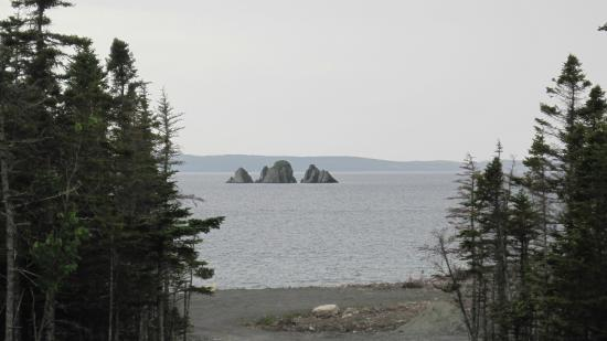 Blazing Horizon Cottages: Shag Rock from the trail