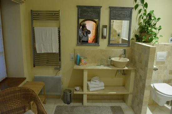 Domaine des Anges : spacious bathroom with everything one needs