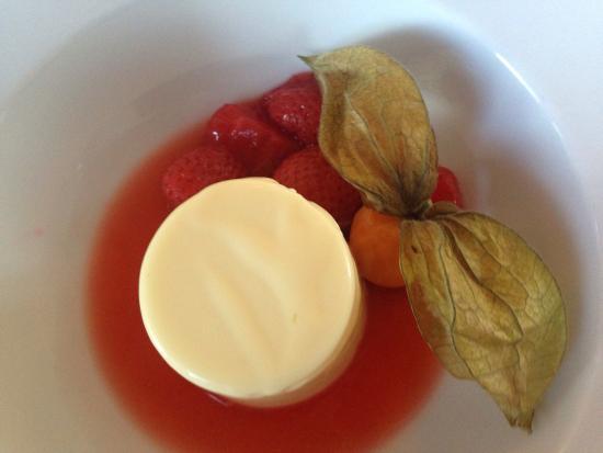 Redwood Bistro Lemon Panna Cotta Strawberries Best Panna Cotta Ever