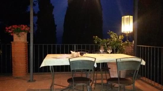 Ristorante La Forra : la terrazza  panoramica