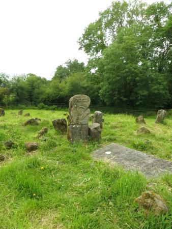 Boa Island, UK: The cemetery