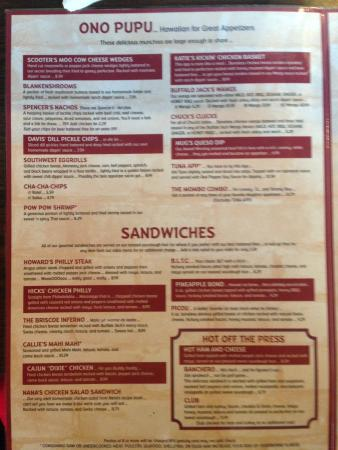 Menu - Picture of Mugshots Grill & Bar, Tuscaloosa - TripAdvisor