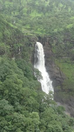 Nashik, Ινδία: Views of Dugarwadi waterfall in full bloom