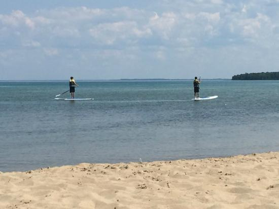 northport beach paddle boarding