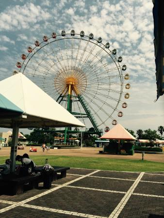 Ako Kaihin Park: 瀬戸内海が見える大きな観覧車。くまのプーさんも乗ってるよ。