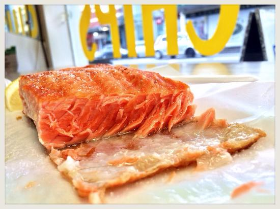 Mt. Eden Village Fish Shop: Grilled Salmon Fresh, moist, melt in your mouth