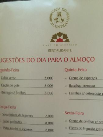 casa do alentejo menu