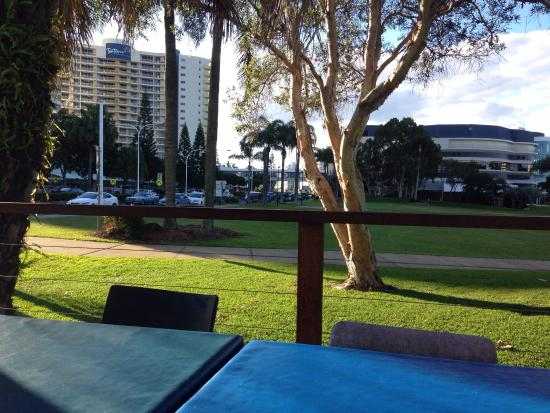 Selfish Fish N Chips: Outdoor dining view