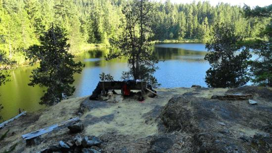 The Sunshine Coast Trail - Day Tours : Wednesday Lake Picnic Site...We camped there.