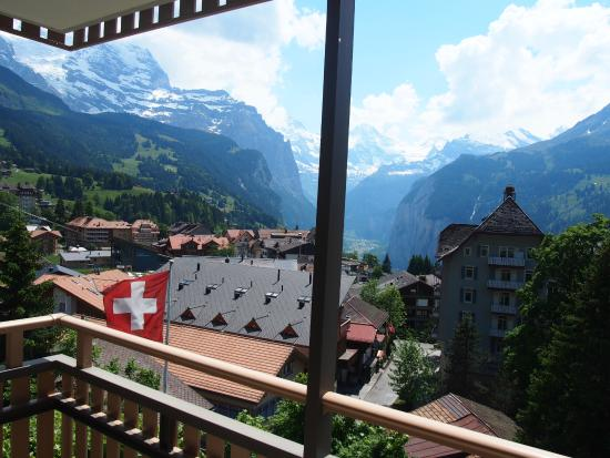 Hotel Jungfraublick Wengen : View fr the balcony of our corner room