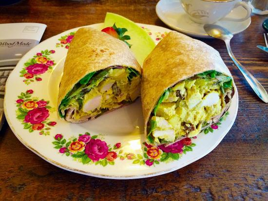 Wayne, PA: Delicious Curried Chicken Salad Wrap