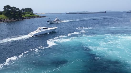 Wafu Pension Ikibokujo: 郷ノ浦港に到着