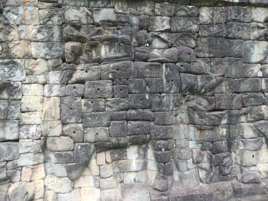 Part of the carvings that gave the area its elephant for Terrace of the elephants