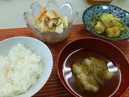 Uminchunoie: 夜ご飯の小鉢。お魚だと嬉しい!