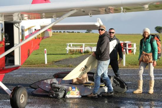 Loading the surfboards on the plane at Barwon heads Airport