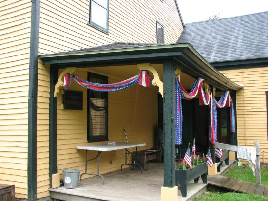 Milton, NH: Porch of the Jones Farmhouse