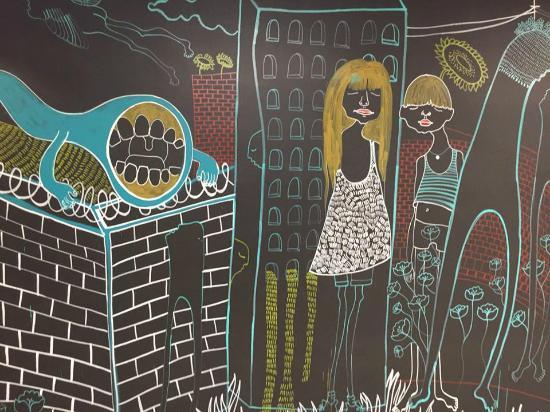 Grey Nuns Residence: Art around the building!