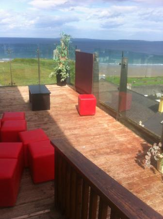 "Golf Hotel Ballybunion: ""Safe"" 4mm plywood instead of the proper glass.....over looking a 5 floor drop"