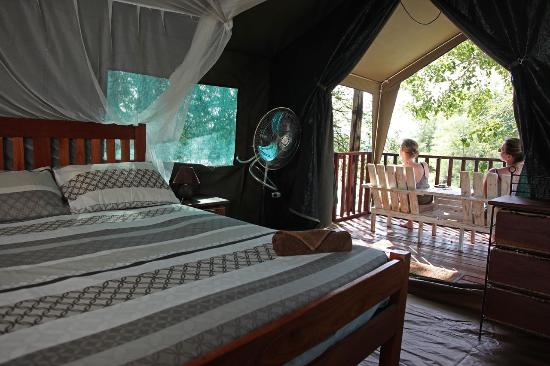 Gache Gache Lodge: inside one of our tented chalets