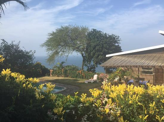 Bed & Breakfast by the Sea: view from the private terrace of the garden cottage